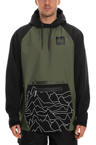 686 WATERPROOF HOODY - SURPLUS GREEN - 2020 - Boardwise