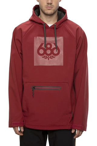 686 WATERPROOF HOODY - OXBLOOD - 2021