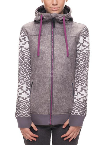 686 WOMENS ELLA ZIP BONDED FLEECE - CHARCOAL - 2018