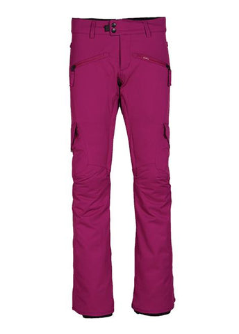 686 WOMENS MISTRESS INSULATED CARGO SNOWBOARD PANT - FUCHSIA - 2018 - Boardwise