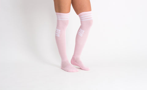 EIVY ALPINE CHEERLEADER OVER THE KNEE  DUSTY PINK WOMENS SNOWBOARD SOCKS