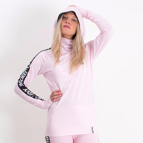 EIVY ICECOLD HOODED THERMAL TOP DUSTY PINK - Boardwise