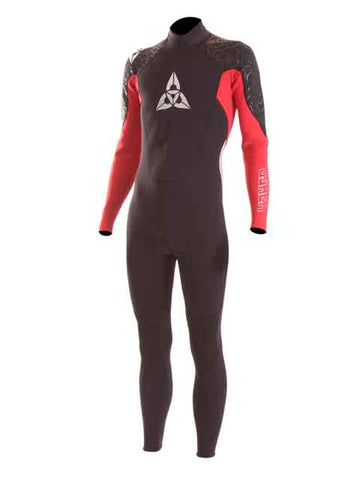 2018 O'Shea Prisma 3/2 mm Mens Summer Wetsuit Black Red