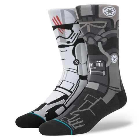 STANCE STAR WARS DISTURBANCE GREY SOCKS - Boardwise