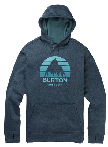 BURTON OAK POLLOVER HOODIE - DRESS BLUE - 2020 - Boardwise
