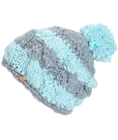 SPACECRAFT ELLA POM BEANIE - GREY BLUE - Boardwise