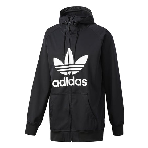ADIDAS GREELEY SOFT SHELL SNOWBOARD JACKET - BLACK WHITE - 2018 - Boardwise