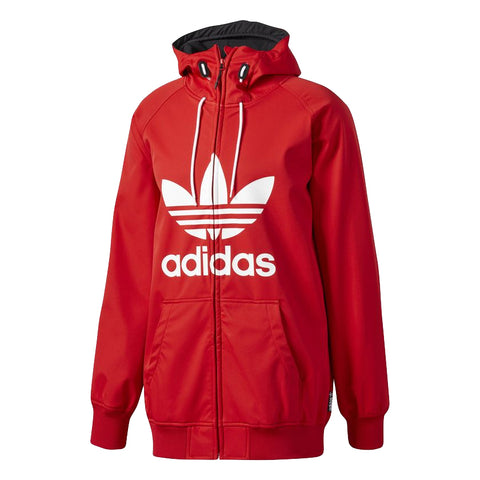 ADIDAS GREELEY SOFT SHELL SNOWBOARD JACKET - SCARLET WHITE - 2018