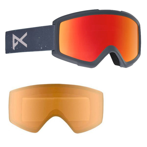 bab3c54f2913 ANON HELIX 2.0 SNOWBOARD GOGGLE - RUSH RED SOLEX - 2019 - Boardwise