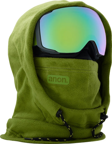 ANON MFI XL HOODED CLAVA - GREEN - 2018 - Boardwise