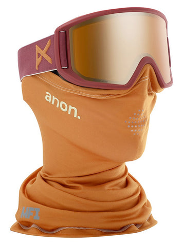 ANON RELAPSE MFI SNOWBOARD GOGGLE - MAROON BRONZE - 2020 - Boardwise