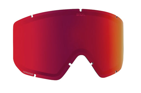 ANON RELAPSE PERCEIVE SNOWBOARD GOGGLE LENS - SUN RED - 2021