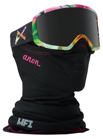 ANON WOMENS DERINGER MFI SNOWBOARD GOGGLE - BLACK WIDOW - 2018
