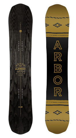 ARBOR ELEMENT BLACK CAMBER MID WIDE SNOWBOARD - 2019 - Boardwise