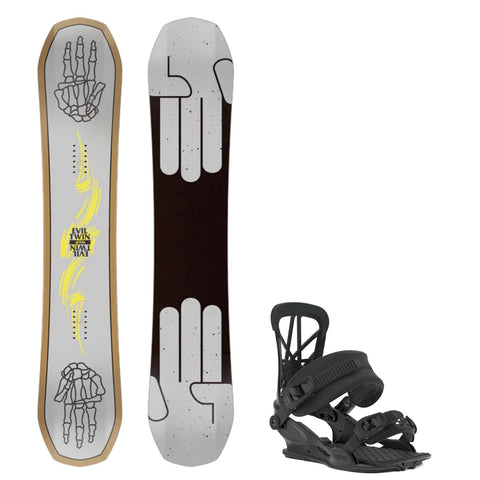BATALEON EVIL TWIN WIDE SNOWBOARD PACKAGE - 2020 - Boardwise