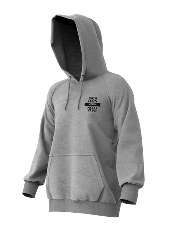 BATALEON LAST NINJA HOODIE - HEATHER GREY - 2020 FRONT