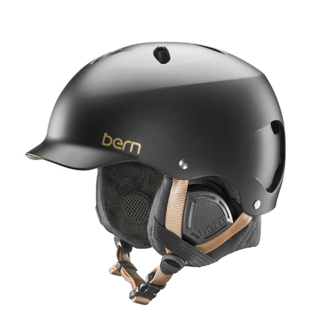 BERN WOMENS LENOX EPS HELMET - SATIN BLACK - 2018 - Boardwise