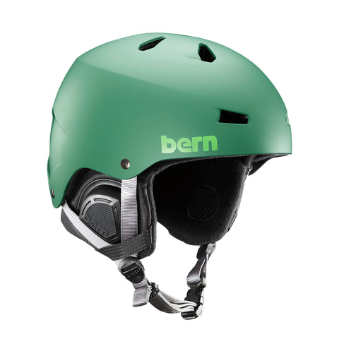 BERN MACON EPS HELMET - MATTE LEAF GREEN - 2018 - Boardwise