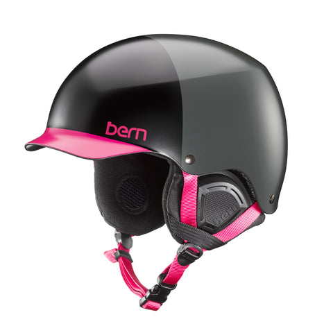 BERN WOMENS MUSE EPS HELMET - SATIN BLACK HATSTYLE - 2018 - Boardwise