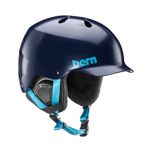 BERN WATTS EPS HELMET - SATIN NAVY - 2018 - Boardwise