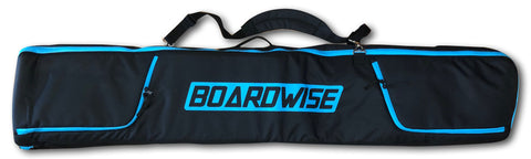 BOARDWISE BOARD WHEELIE COFFIN SNOWBOARD BAG - BLACK BLUE - Boardwise
