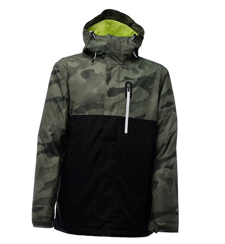 BONFIRE ANCHOR SNOWBOARD JACKET - CAMO PRINT - 2018 - Boardwise