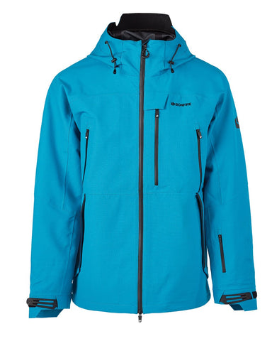 BONFIRE ASPECT 3L STRETCH SNOWBOARD JACKET - CYAN - 2020 - Boardwise