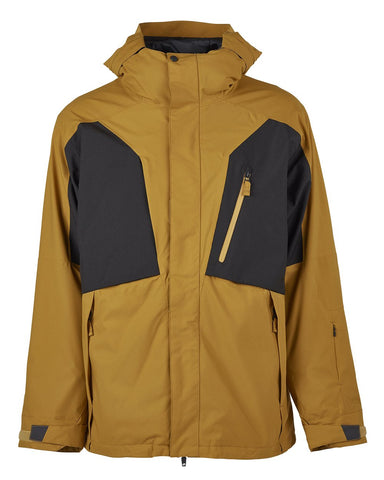 BONFIRE FIRMA STRETCH 3 IN 1 SNOWBOARD JACKET - CAMEL - 2020 FRONT
