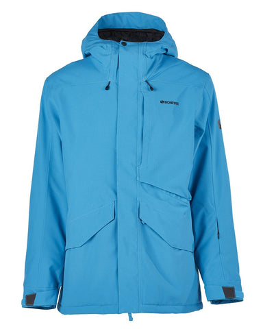 BONFIRE VECTOR INSULATED SNOWBOARD JACKET - CYAN - 2020 - Boardwise