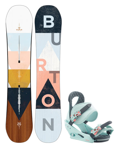 BURTON WOMENS YEASAYER FLYING V SNOWBOARD PACKAGE - 2020 - Boardwise