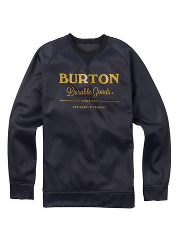 BURTON BONDED CREW SWEATER - MOOD INDIGO HEATHER - 2018 - Boardwise