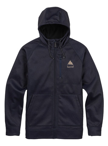 BURTON CROWN BONDED FULL ZIP HOODIE - MOOD INDIGO - 2018 - Boardwise