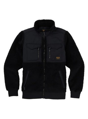 BURTON BOWER FULL ZIP FLEECE - TRUE BLACK - 2019 - Boardwise