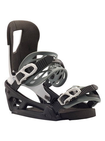 BURTON CARTEL EST SNOWBOARD BINDINGS - BLACK WHITE - 2020 - Boardwise