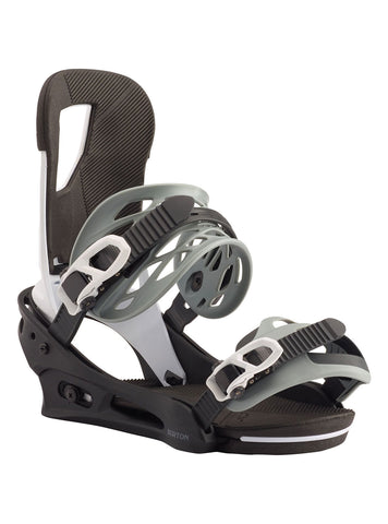 BURTON CARTEL SNOWBOARD BINDINGS - BLACK WHITE - 2020 - Boardwise