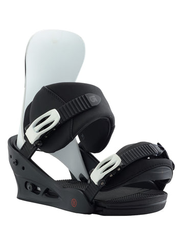 BURTON CLUTCH SNOWBOARD BINDINGS - BLACK WHITE - 2018 - Boardwise