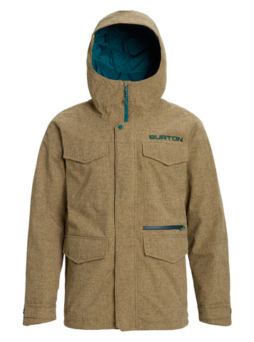 BURTON COVERT SNOWBOARD JACKET - KELP HEATHER - 2020