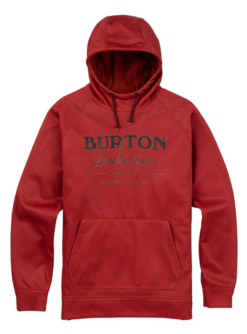 BURTON CROWN BONDED PULLOVER HOODIE - BITTERS HEATHER - 2018 - Boardwise