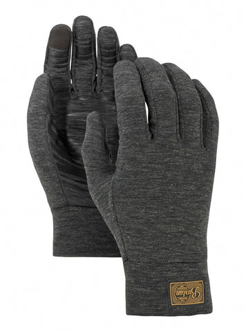 BURTON DRIRELEASE WOOL GLOVE LINER - TRUE BLACK HEATHER