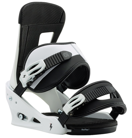 BURTON FREESTYLE  SNOWBOARD BINDINGS - WHITE BLACK - 2018