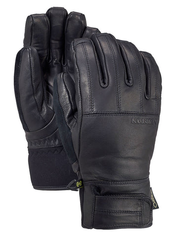 BURTON GONDY GORE TEX LEATHER SNOWBOARD GLOVE - TRUE BLACK - 2020 - Boardwise