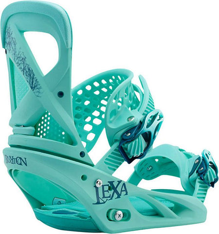 BURTON WOMENS LEXA SNOWBOARD BINDINGS - TEAL DEAL - 2017