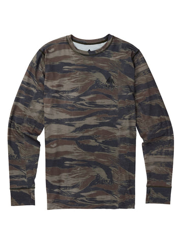 BURTON MIDWEIGHT CREW THERMAL - OLIVE WORN TIGER - 2018 - Boardwise