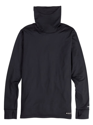 BURTON MIDWEIGHT LONG NECK THERMAL - TRUE BLACK - 2021