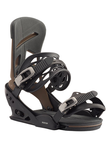 BURTON MISSION SNOWBOARD BINDINGS - BLACK MOCHA - 2020 - Boardwise