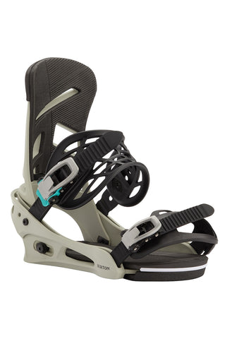BURTON MISSION RE:FLEX SNOWBOARD BINDINGS - GRAY GREEN - 2021