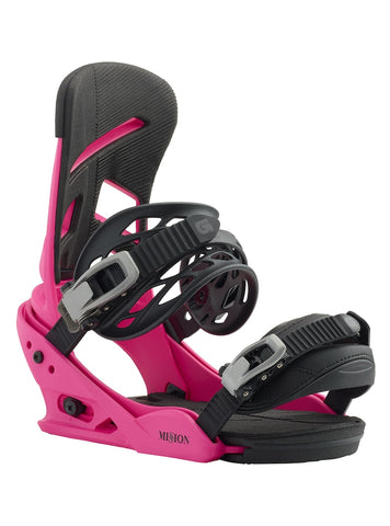 BURTON MISSION SNOWBOARD BINDINGS - PINK - 2019 - Boardwise