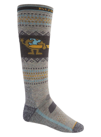BURTON PERFORMANCE MIDWEIGHT SNOWBOARD SOCKS - OATMEAL HEATHER - 2021