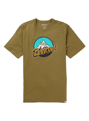BURTON RETRO MOUNTAIN T-SHIRT - MARTINI OLIVE - 2020 FRONT