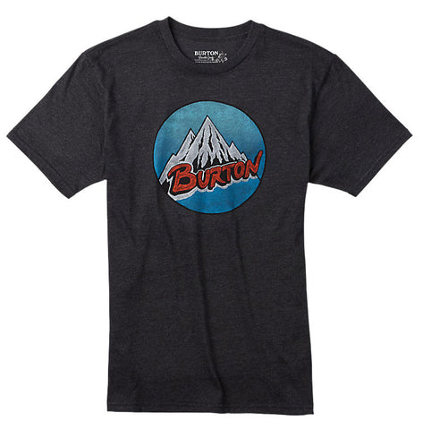 BURTON RETRO MOUNTAIN T-SHIRT - TRUE BLACK - Boardwise